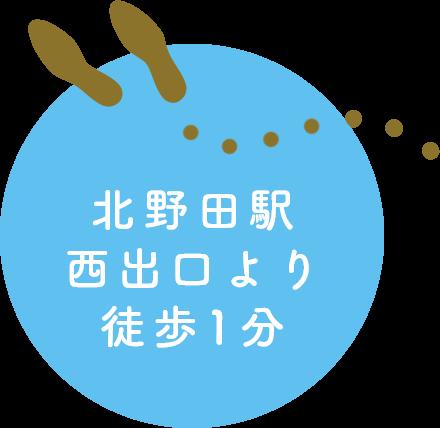 北野田駅西出口より徒歩1分